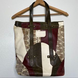 Proenza Schouler Python Leather Colorblock Tote